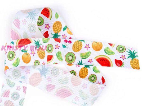Fita De Gorgurão Progresso Estampada Fruta