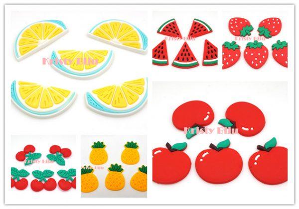 Apliques Emborrachado Para Laços e Tiaras Fruta