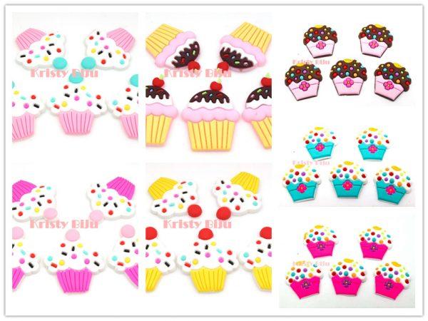Apliques Emborrachado Para Laços e Tiaras cupcake