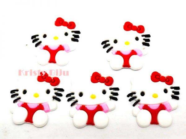 Apliques Emborrachado Para Laços e Tiaras Hello Kitty