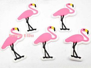 Apliques Emborrachado Para Laços e Tiaras Flamingo