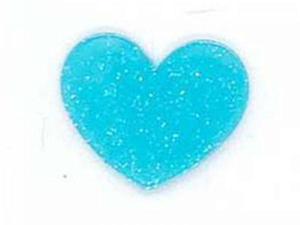 Apliques Acrilico Coração Com Brilho Para Laços e Tiaras