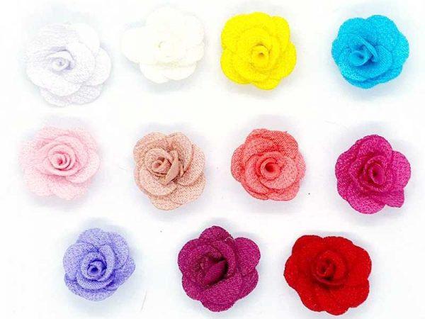 Aplique Flores de tecido Para Laços e Tiaras