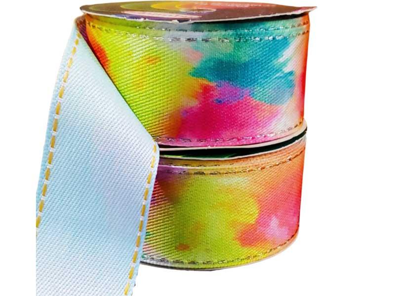 Fita Decorativa Jeans Tie Dye 38mm N°9 Sinimbu Artesanato