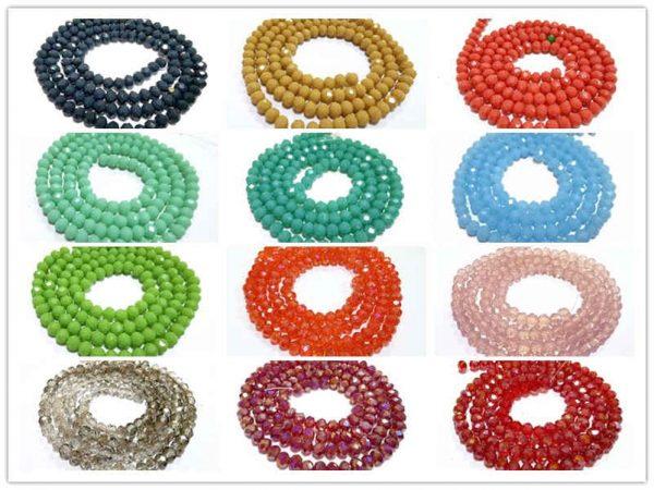 Contas de Cristal Diy acessórios 4mm
