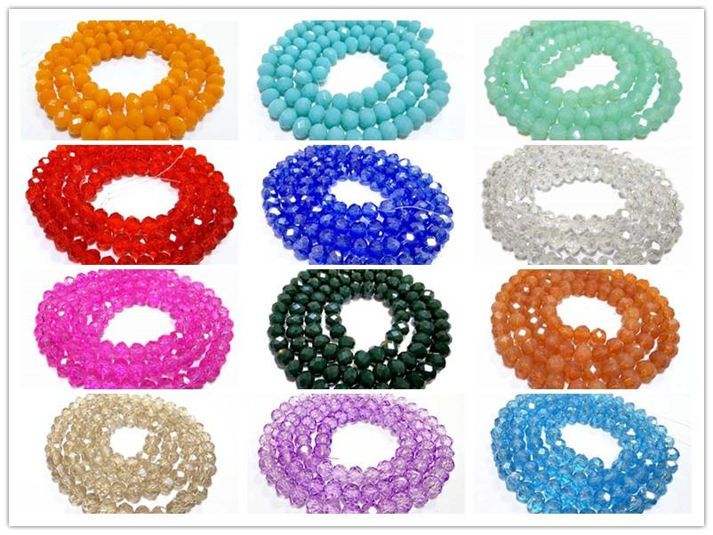 Contas de Cristal Diy acessórios 6mm