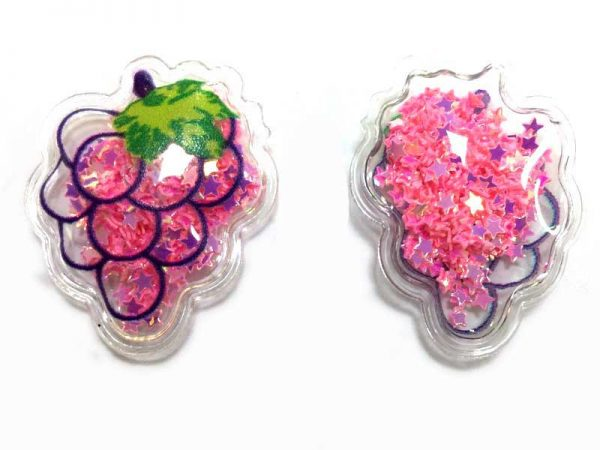 Apliques Transparente Fruta com Lantejoula
