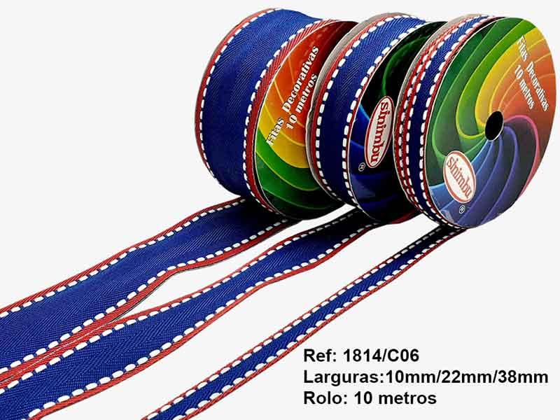 Fita Pespontada Candy Color Para Laços 38mm Sinimbu