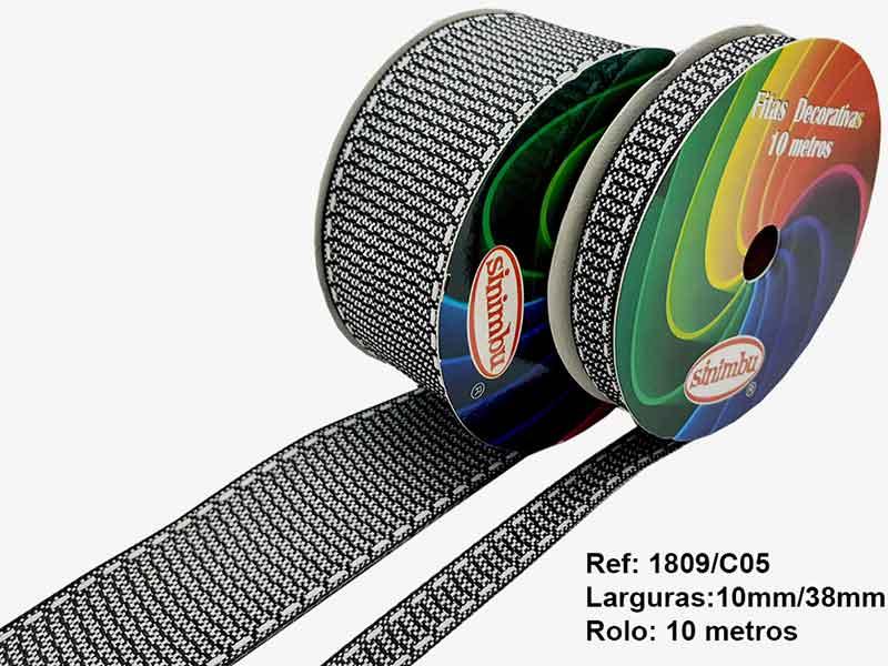 Fita Com Textura Rústica Para Laços 38mm Sinimbu